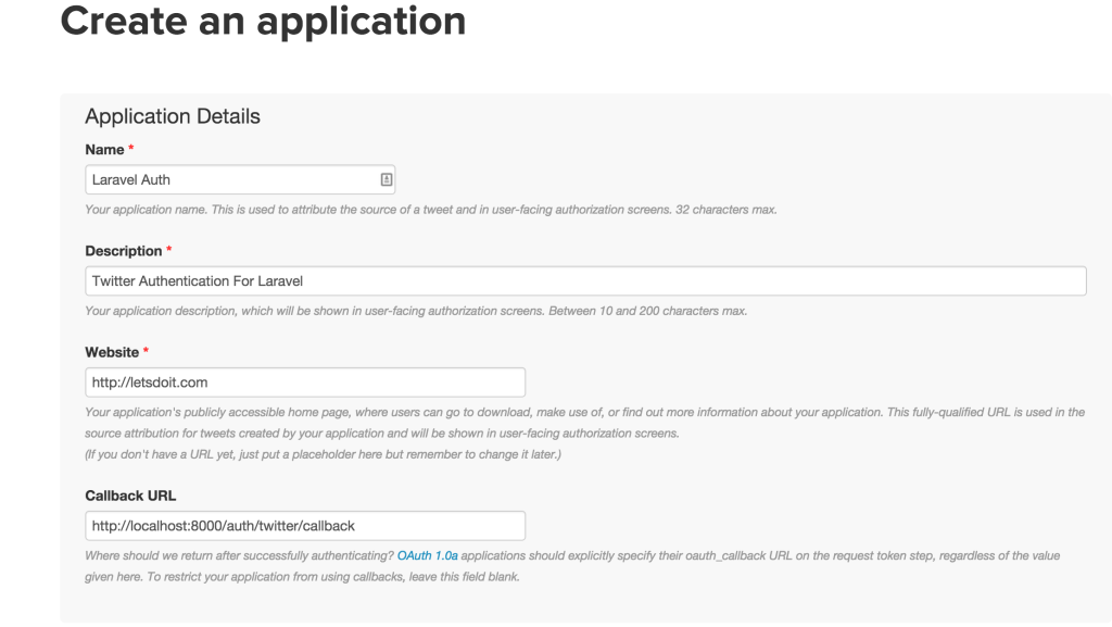 Using Twitter Authentication For Login in Laravel 5 - Goodheads
